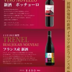 2015年 イタリア新酒 ノヴェッロ